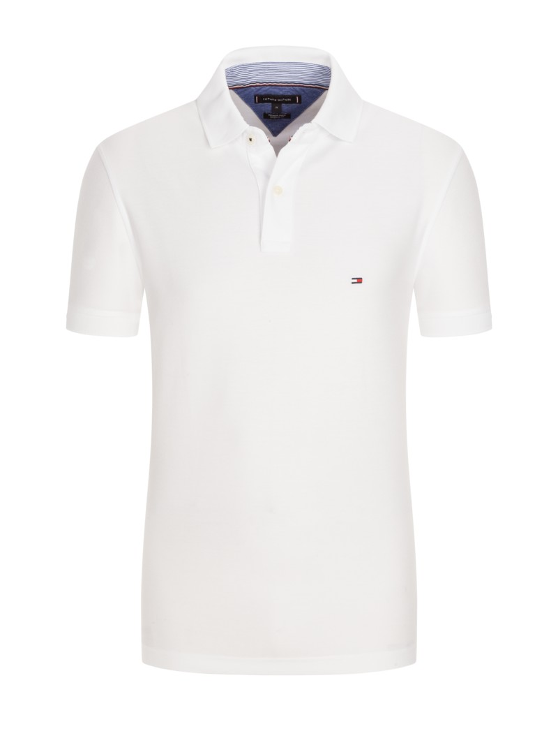 Poloshirt in reiner Baumwolle, Regular Fit in WEISS