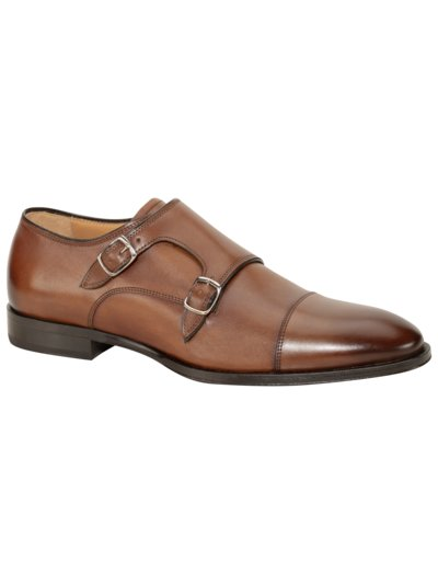 Businessschuh, Doppelmonk in COGNAC
