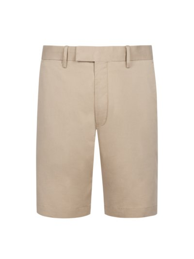 Bermuda mit Stretchanteil, Slim Fit in KHAKI