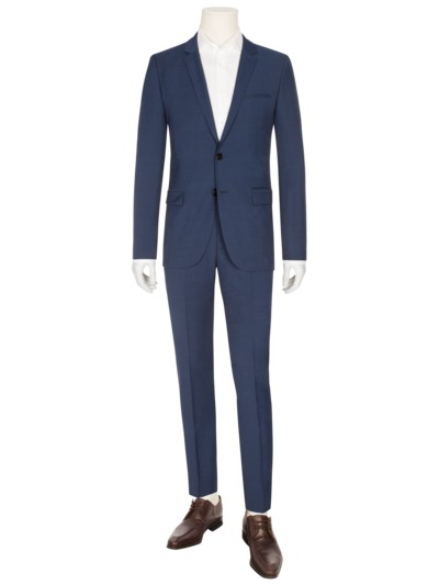 Businessanzug in Minimalstruktur, Arti/Hesten, Extra Slim Fit in ROYAL