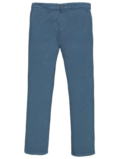 Chino mit Performance Stretch, Extra Slim Fit in BLAU