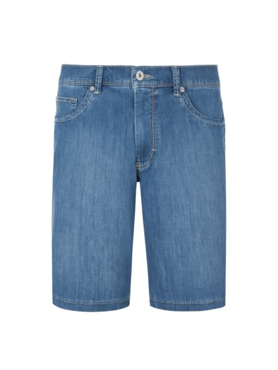 Ultra leichte Bermuda-Denim, Straight Fit in DENIM