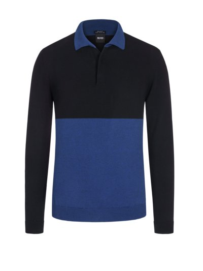 Pullover mit Polokragen, Regular Fit in ROYAL