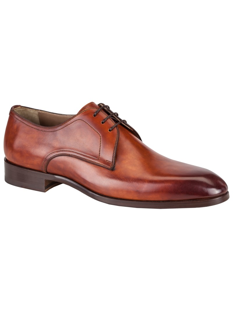 Klassisch-eleganter Businessschuh, Derby in COGNAC