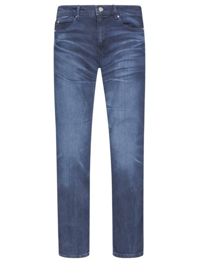 Jeans mit Washed-Effekt, Skinny Fit in BLAU