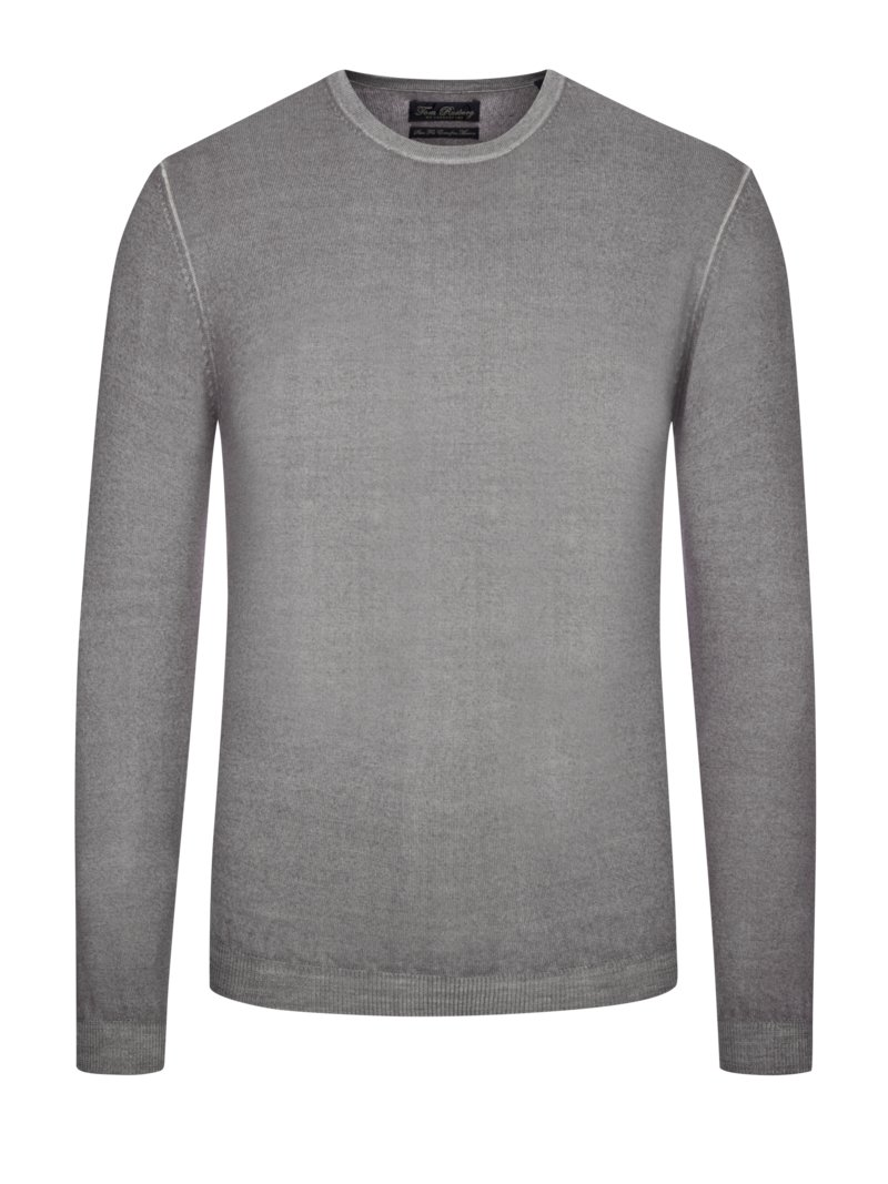 Pullover Slim Fit, 100% Merino Wolle in LILA