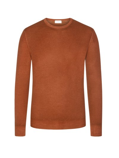 Hochwertiger Pullover, Vintage-Optik in ORANGE