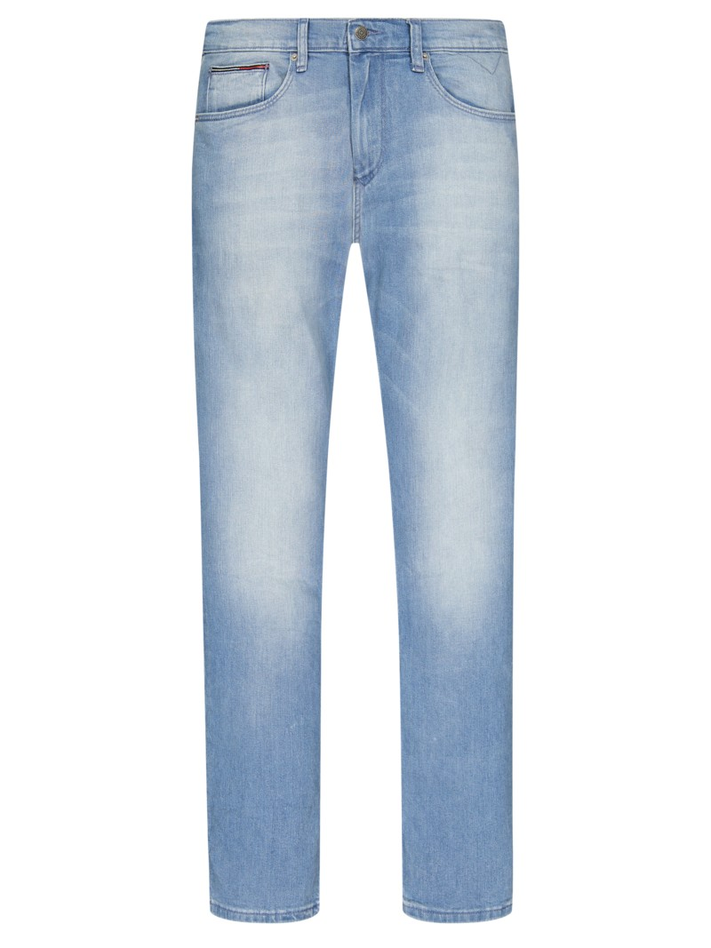 Jeans mit Stretchanteil, Straight Fit in BLEACHED
