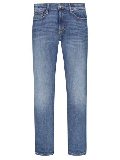 Modische Washed-Jeans, Scanton, Slim Fit in BLAU