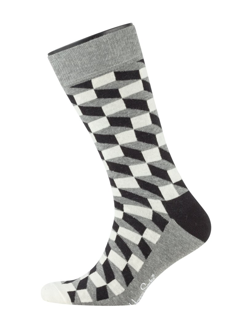 Socken in modischem Muster in GRAU