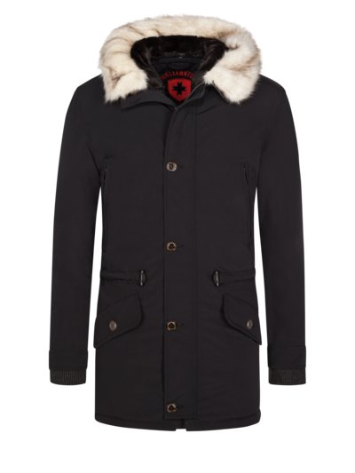 Winterparka mit abtrennbare Fellkapuze, Black X-Men in MARINE