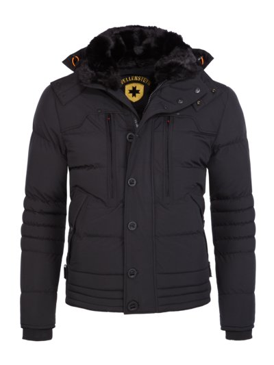 Winterjacke mit Teddy-Fleece Futter, Stardust in SCHWARZ
