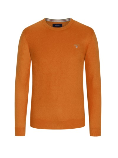 Pullover, O-Neck in ORANGE