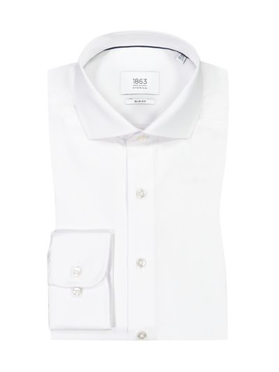 Oberhemd, Slim Fit in WEISS