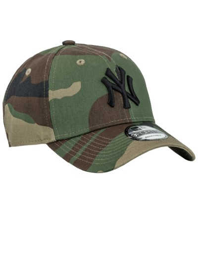 Cap mit Camouflage-Muster in OLIV