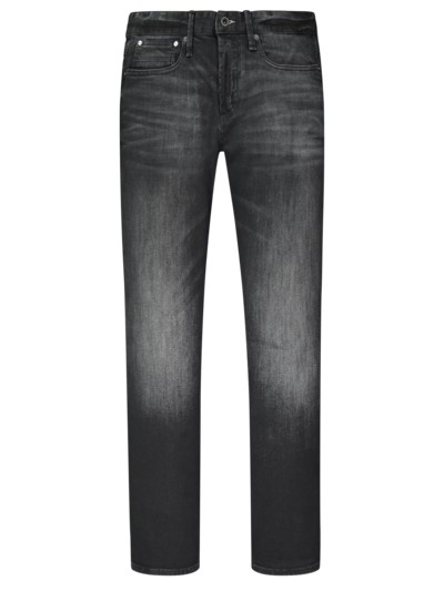 Modische Used Jeans, Razor, Slim Fit in SCHWARZ
