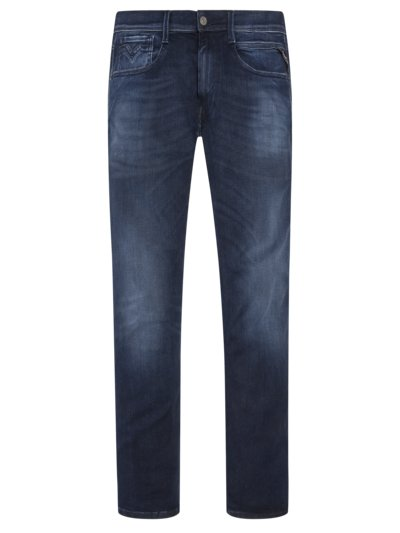 5-Pocket Jeans mit Hyperflex, Anbass in NAVY