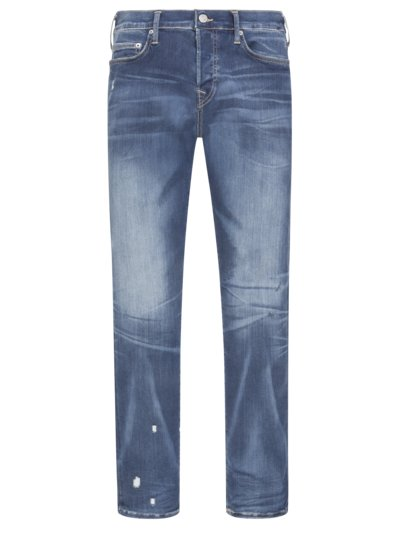 Modische Washed-Jeans, Rocco, Relaxed Skinny in BLAU