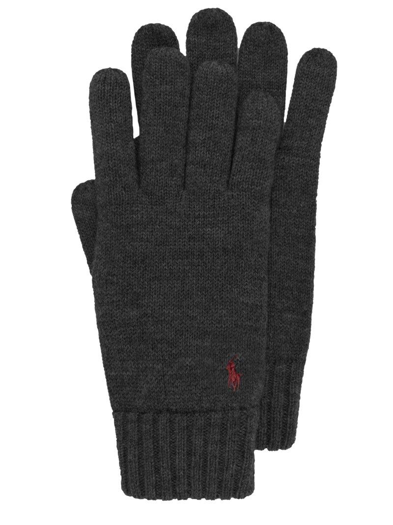 Wollhandschuhe von Polo Ralph Lauren in Anthrazit für Herren | Accessoires > Handschuhe > Wollhandschuhe | Schwarz | Polo Ralph Lauren