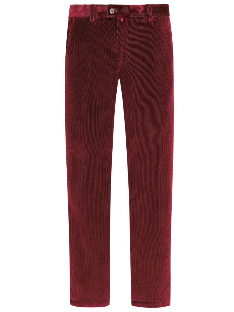 Cordhose, Regular Fit, Jim in ROT