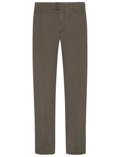Baumwollchino mit Thermofutter, Jim TT, Regular Fit in KHAKI