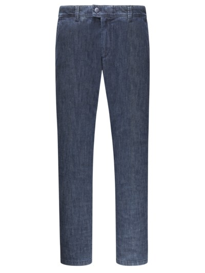 Chinohose in Denim-Qualität, mit Thermofutter, Jim 316 TT in BLAU
