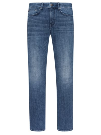 5-Pocket-Jeans mit Destroyed-Details, Re-Invent, Modern Fit in BLAU