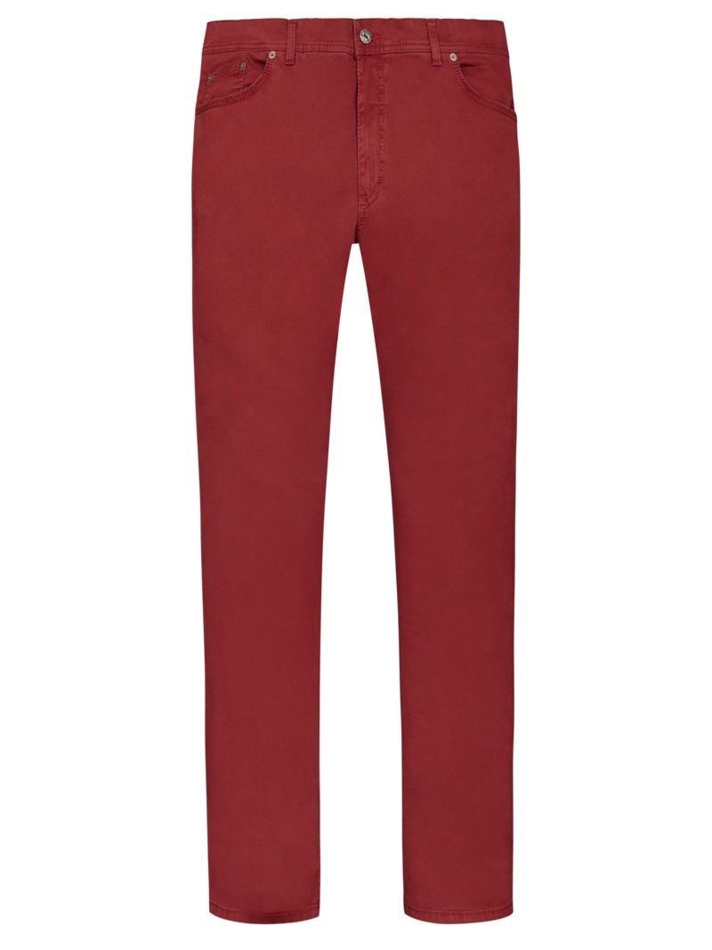 5-Pocket Hose mit Stretchanteil, Regular Fit in ROT