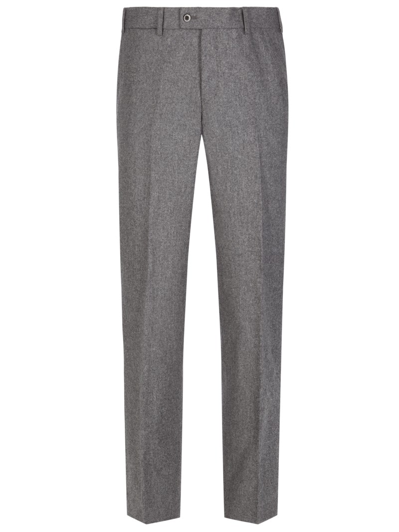 Hochwertige Flanellhose, Contemporary Fit in GRAU
