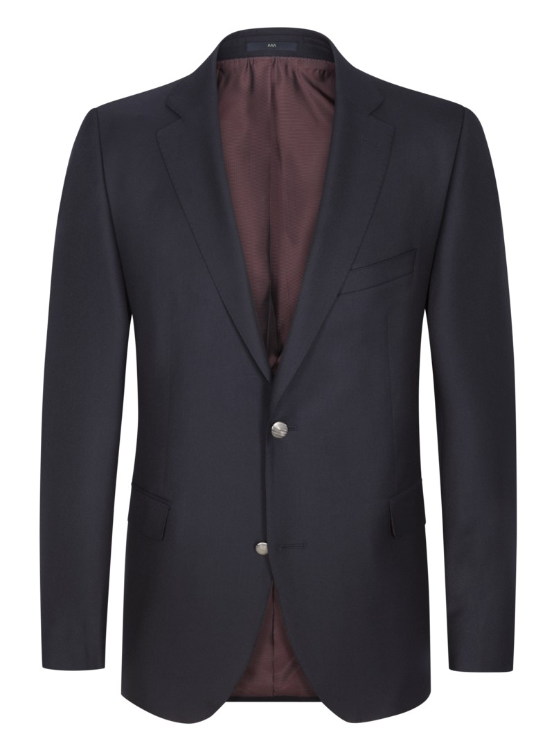 Eleganter Blazer mit Performance-Wolle, Comfort Fit in MARINE