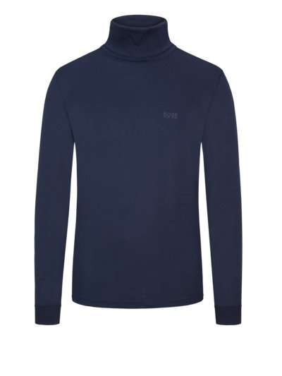 Sweatshirt mit Rollkragen, Slim Fit, Talle in MARINE