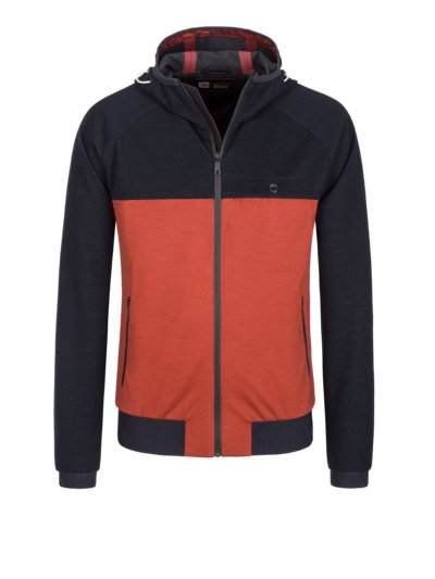 Sweatjacke mit Techmerino in MARINE