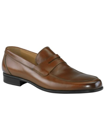Loafer aus Leder in COGNAC