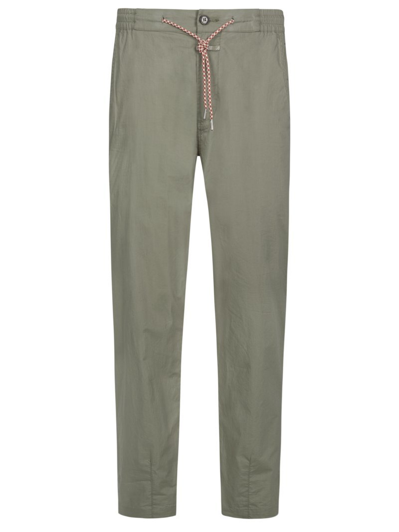 Chino in Joggpant-Optik in KHAKI