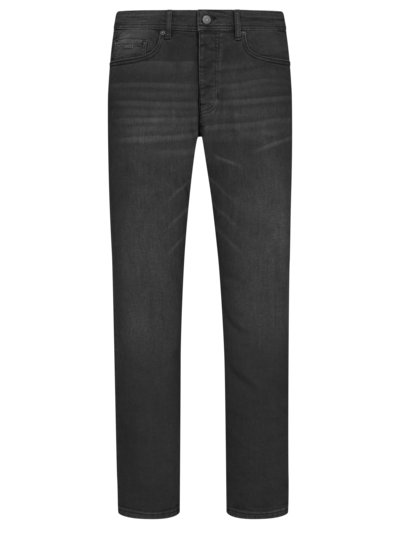 Dark-Denim Jeans, Tapered Fit in ANTHRAZIT