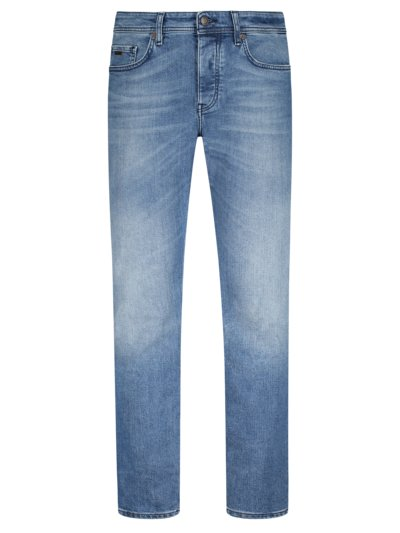 Jeans mit Stretchanteil, Taber, Tapered Fit in BLAU