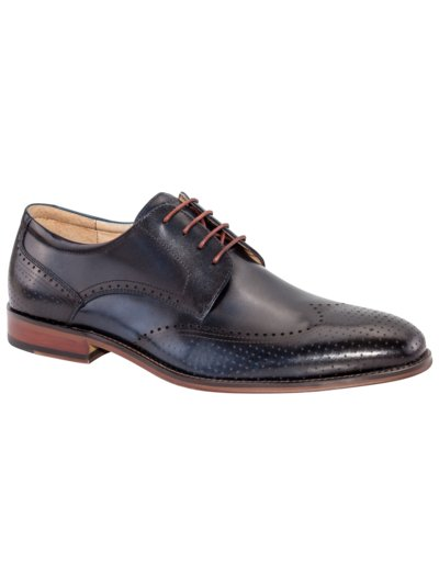 Derby-Businessschuh, Fullbrogue in MARINE