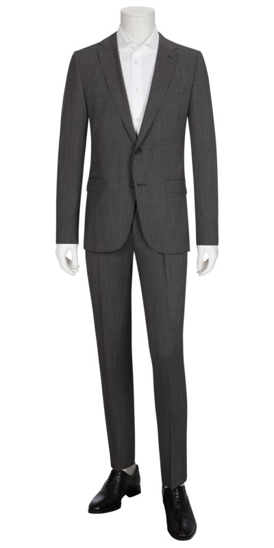 Businessanzug, Novan6/Ben2, im Minimaldessin, Slim Fit in ANTHRAZIT