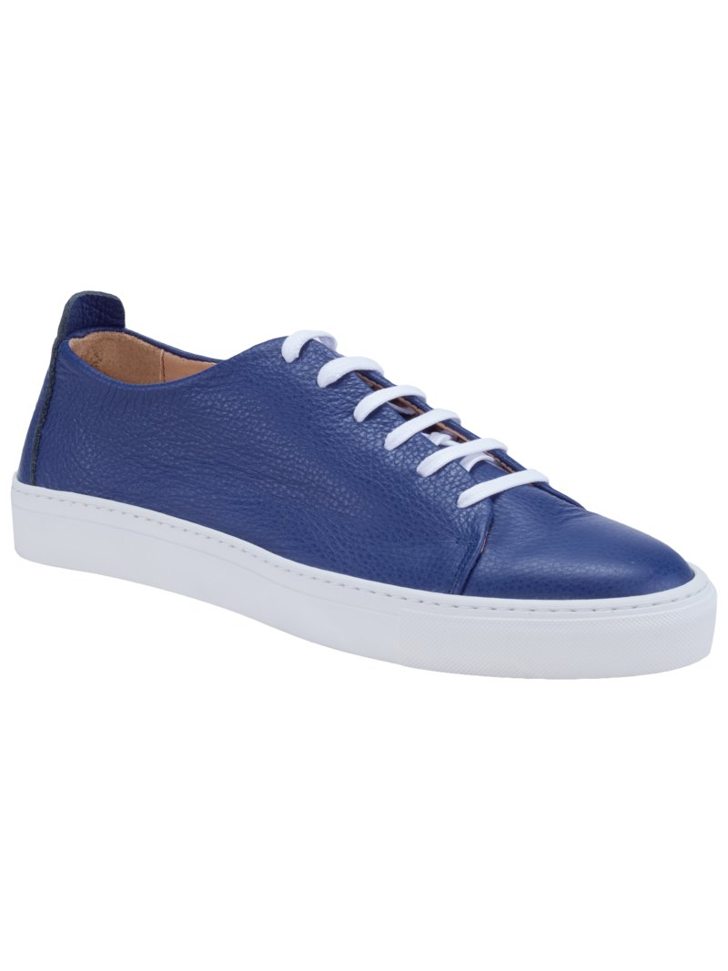 Sneaker in Scotchgrain-Struktur in ROYAL