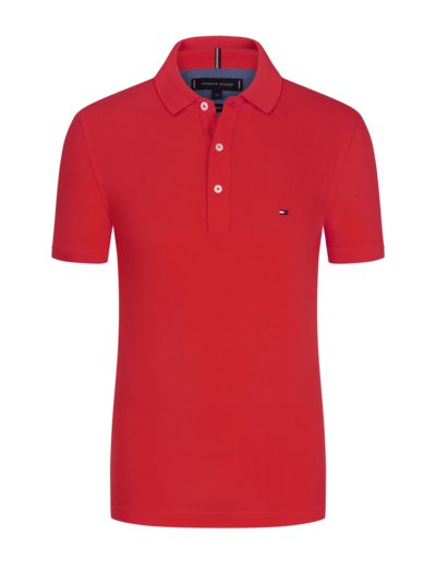 Basic Poloshirt, Slim Fit in AQUA