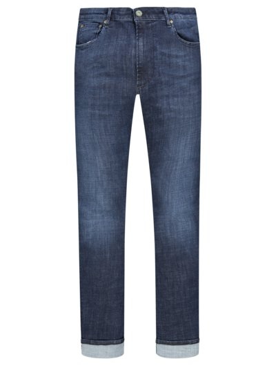 5-Pocket Jeans mit Washed-Look, Fredo 1671 in STONE