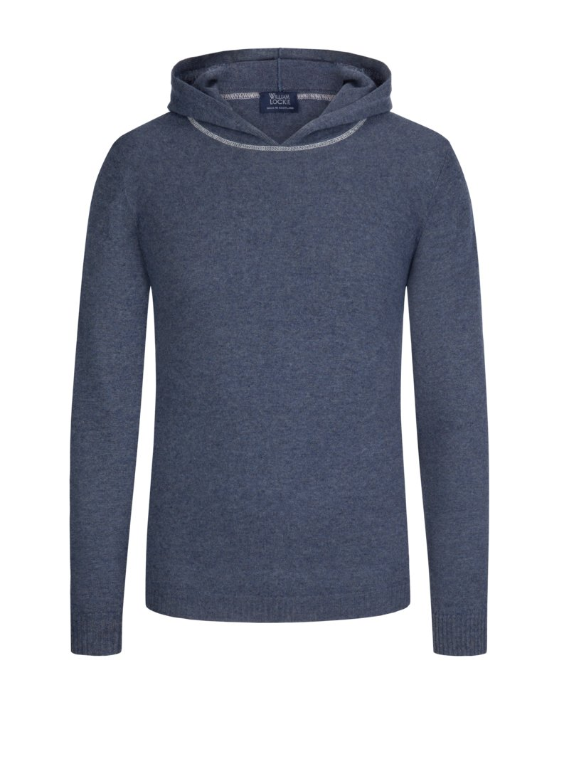 Sweatshirt mit Kapuze in DENIM