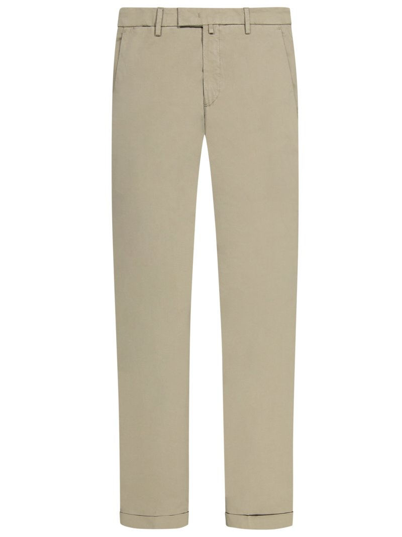 Baumwollchino mit Stretchanteil, Slim Fit in BEIGE