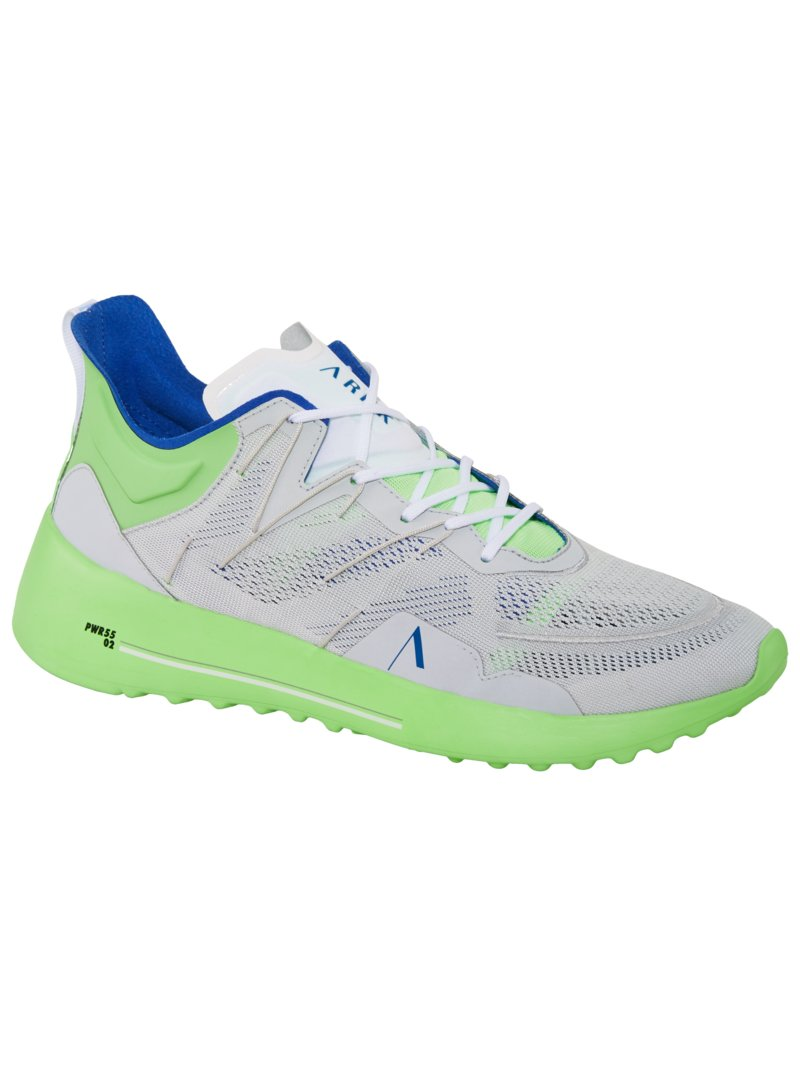 Sneaker in Neon-Optik, Kabl in GRUEN