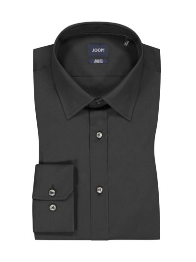 Oberhemd mit Stretchanteil, Slim Fit in SCHWARZ