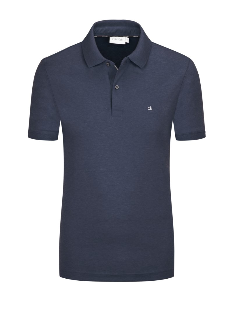 Poloshirt in Jersey-Qualität, Slim Fit in MARINE