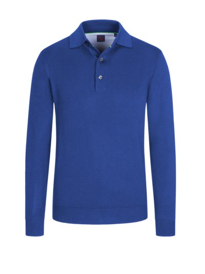 Sweatshirt mit Polokragen in ROYAL