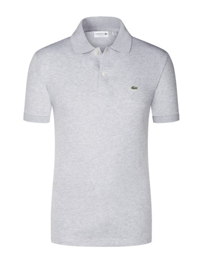 Poloshirt aus Jersey-Stoff, Regular Fit in GRAU