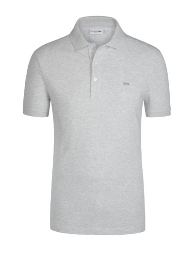 Poloshirt mit Stretchanteil, Slim Fit in GRAU