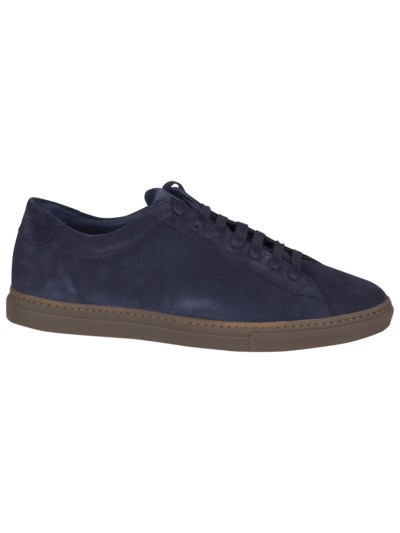 Sneaker in Veloursleder in BLAU